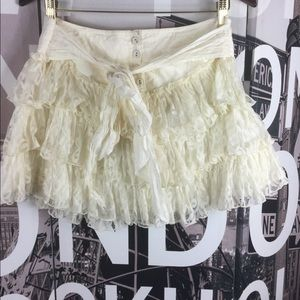 Betsey Johnson Tie Front Button Front Skirt